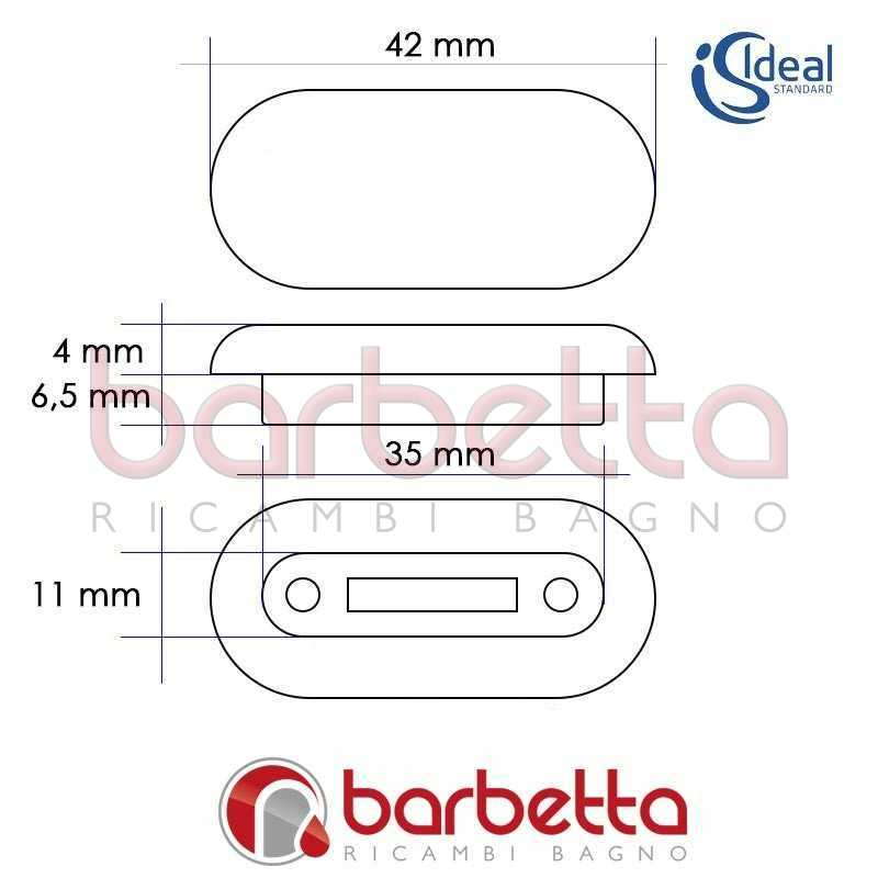 Paracolpi gommini copriwater ideal standard t217801 for Copriwater ideal standard tesi